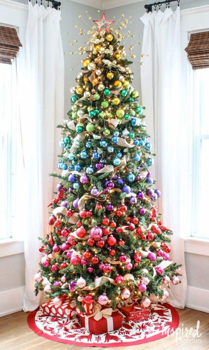 christmas tree decorating ideas elegant decorations how to decorate white red ribbon tutorials apieceofrainbow 24 - 42 Gorgeous Christmas Tree Decorating Ideas { & Best Tutorials!}