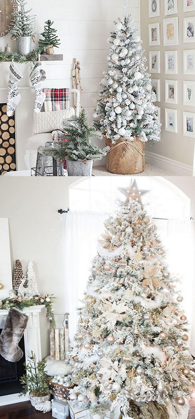 christmas tree decorating ideas elegant decorations how to decorate white red ribbon tutorials apieceofrainbow 3 - 42 Gorgeous Christmas Tree Decorating Ideas { & Best Tutorials!}