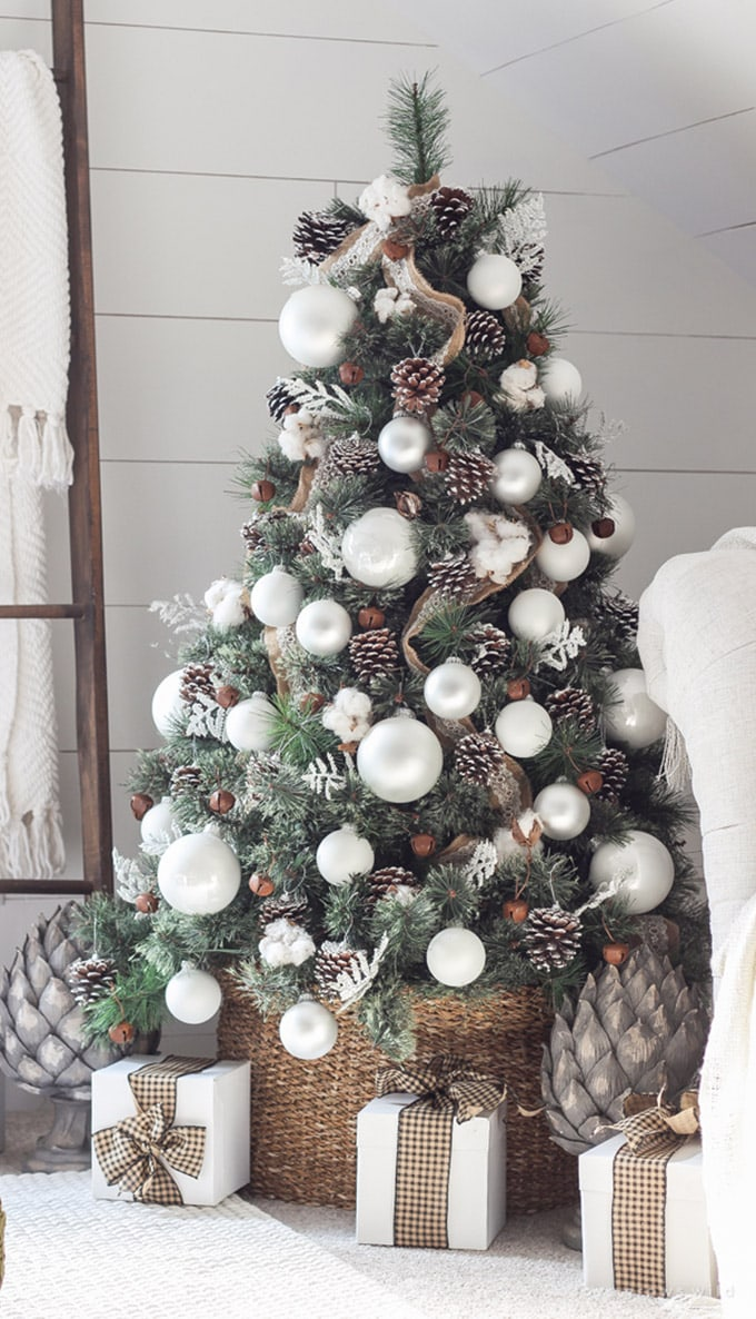 christmas tree decorating ideas elegant decorations how to decorate white red ribbon tutorials apieceofrainbow 5a - 42 Gorgeous Christmas Tree Decorating Ideas { & Best Tutorials!}