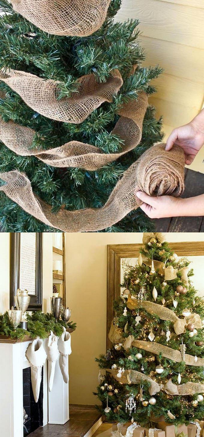 christmas tree decorating ideas elegant decorations how to decorate white red ribbon tutorials apieceofrainbow 6 - 42 Gorgeous Christmas Tree Decorating Ideas { & Best Tutorials!}