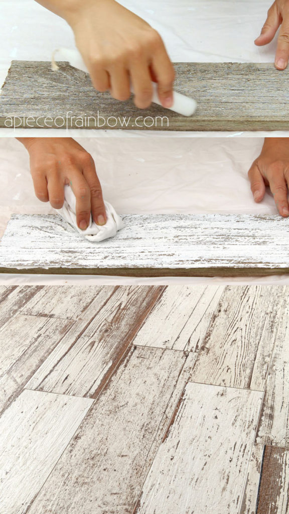 how to whitewash wood in 3 simple ways