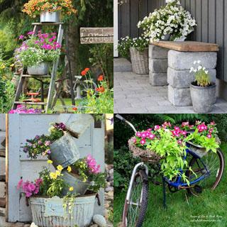 diy vintage garden decorations ideas