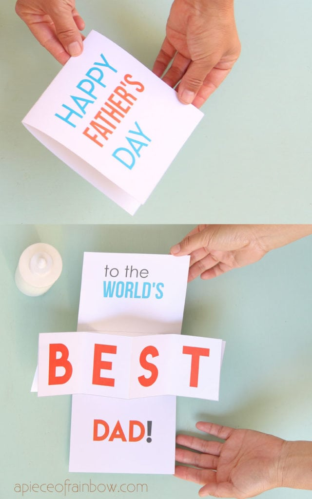 Easy Diy Pop Up Happy Father S Day Card A Piece Of Rainbow