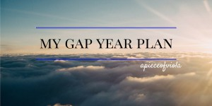 My Gap Year Plan