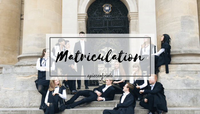 MATRICULATION | Uni Diaries