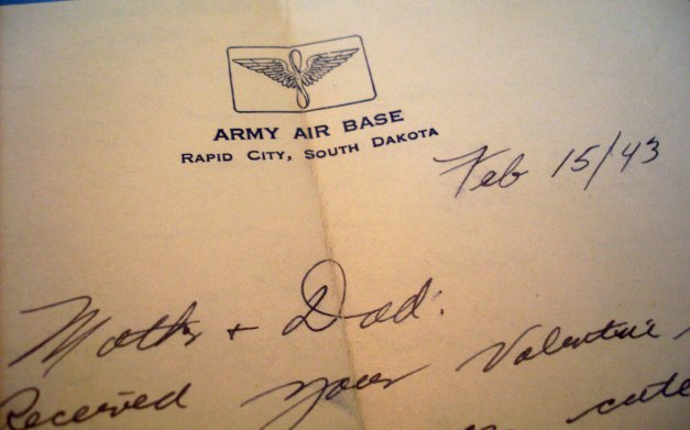 Letter written by Joe Noyes while in Rapid City, 1943