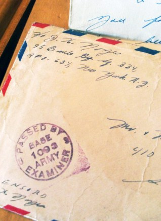 Handwritten letter home by Joe Noyes