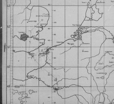 Mission map for September 15th 1943