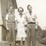 Walter Jr., Mrs. Noyes, and Joe in Seattle