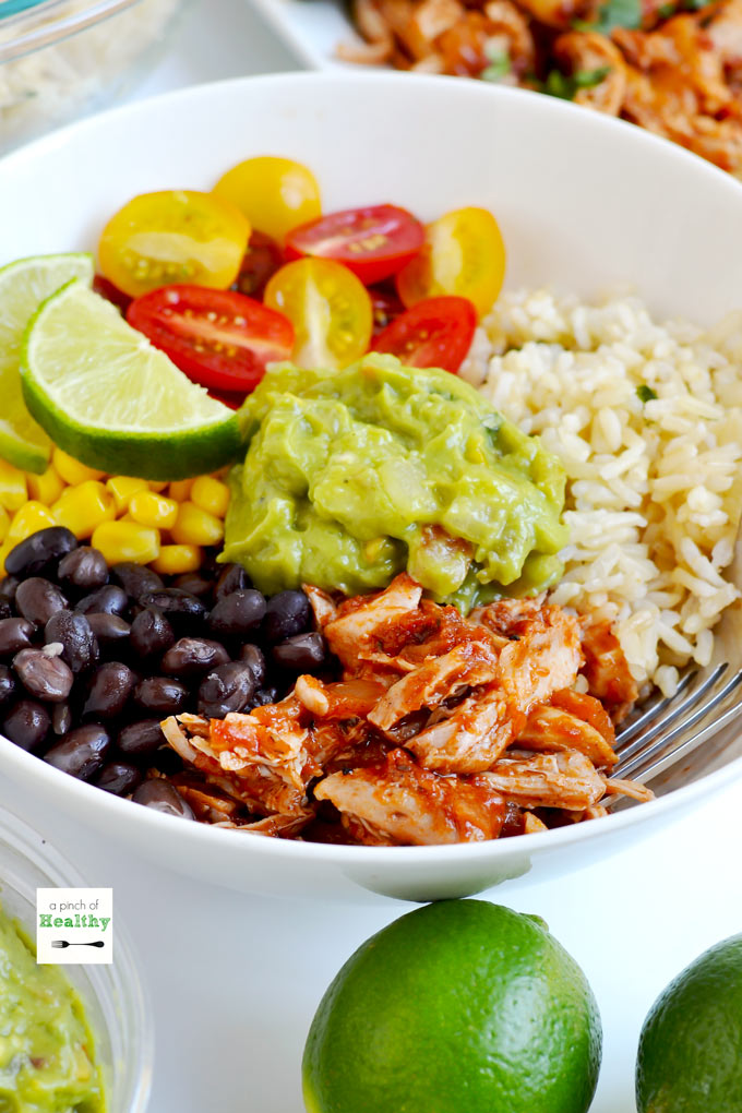 Chicken Burrito Bowls Better Than Chipotle A Pinch Of
