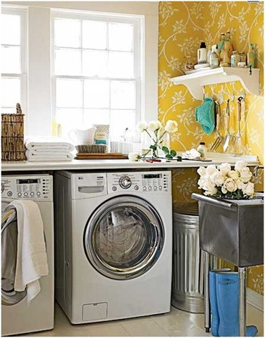 bright sunny space for laundry