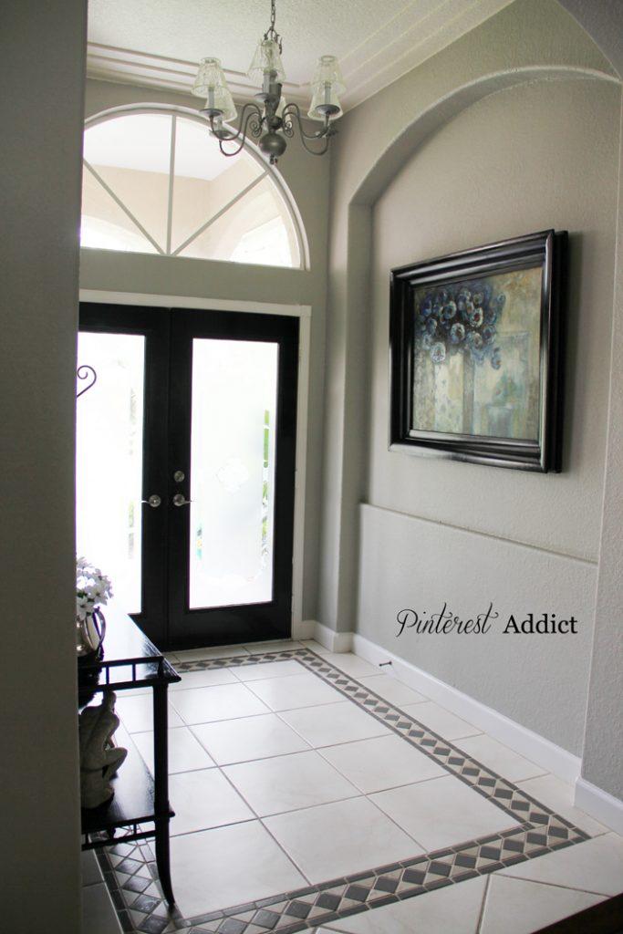 Painting Floor tile - Painting Floor tile Entry way tile update