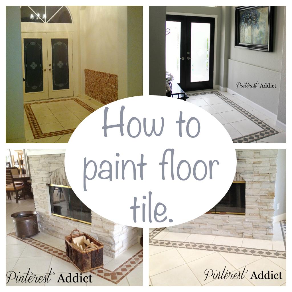 Painting Floor Tile Pinterest Addict