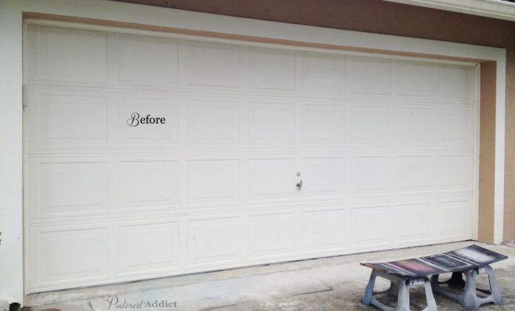 Faux Carriage Garage Door - Garage before