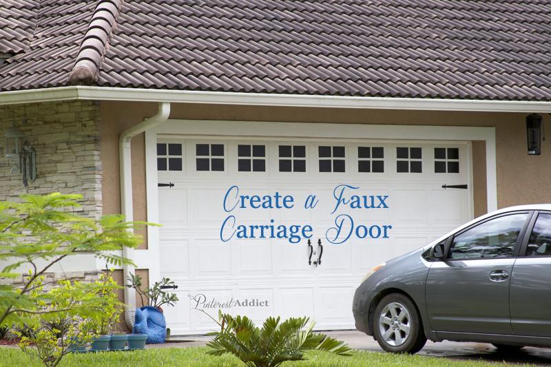 Creating A Faux Carriage Garage Door Pinterest Addict