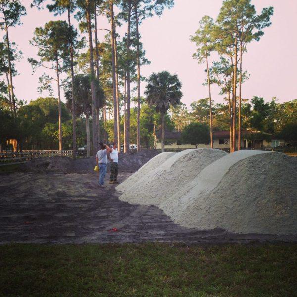 volleyball court sand