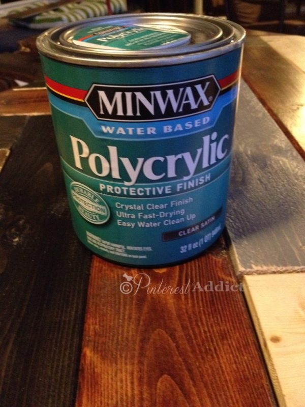 How to make a DIY Herringbone Headboard Minwax Water Based Polycrylic