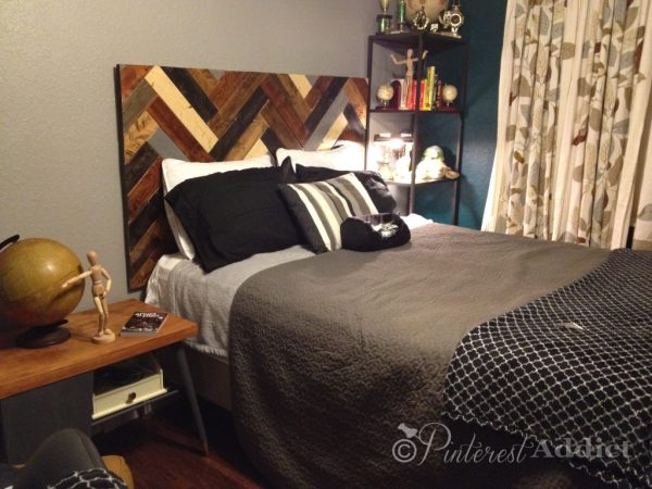 How to make a DIY Herringbone Headboard