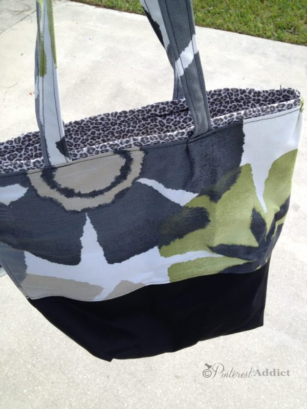 DIY handbag - black green white
