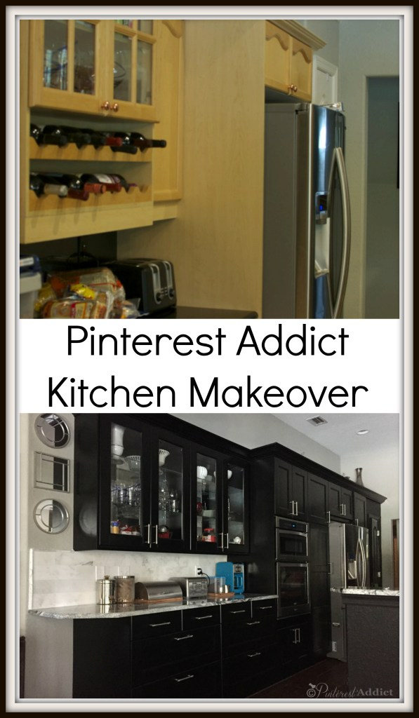 Kitchen Makeover - Pinterest Addict - Black Ramsjo Ikea Kitchen