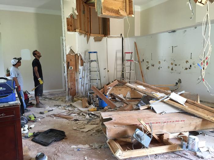 kitchen demo walls down