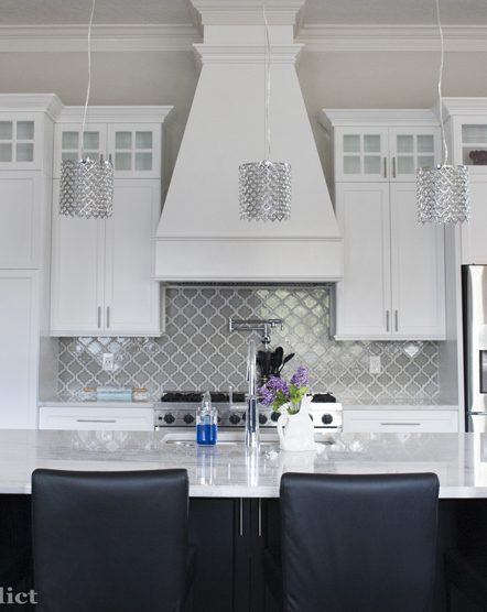 Pinterest Inspired Kitchen -Gorgeous kitchen makeover! Calcita quartzite counters, herringbone tile floors... love it all - on Pinterest Addict Blog