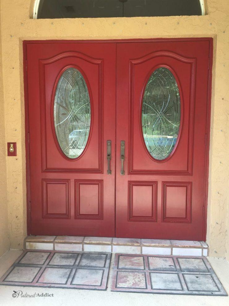 Modern Masters Front Door Paint - Sophisticated - painting the front door