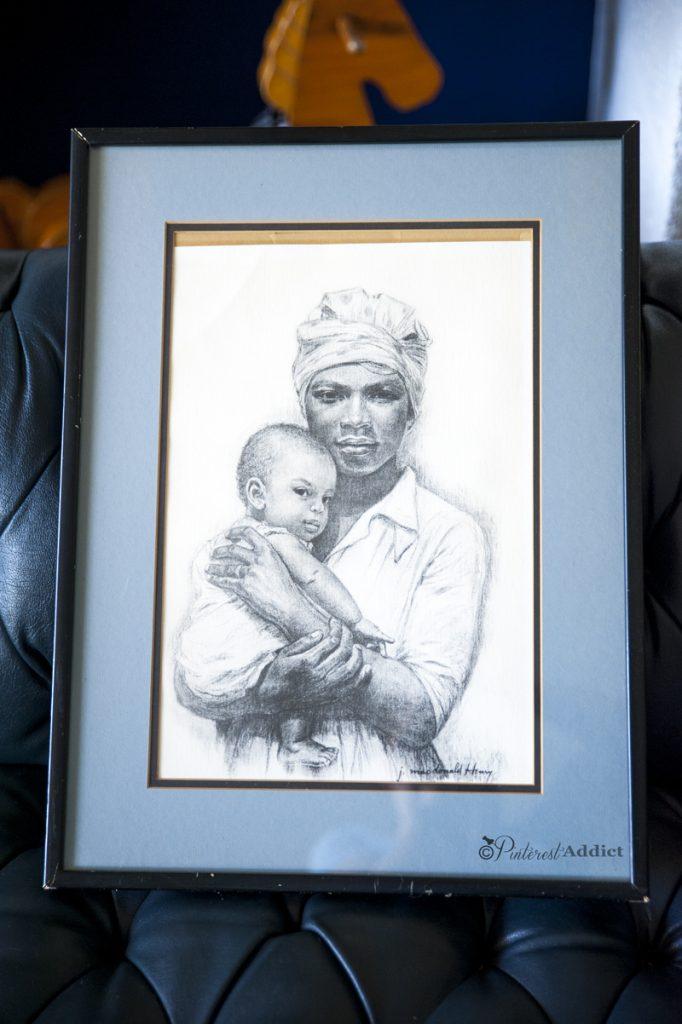 J Macdonald - Madonna and Child - art print - thrift store art finds