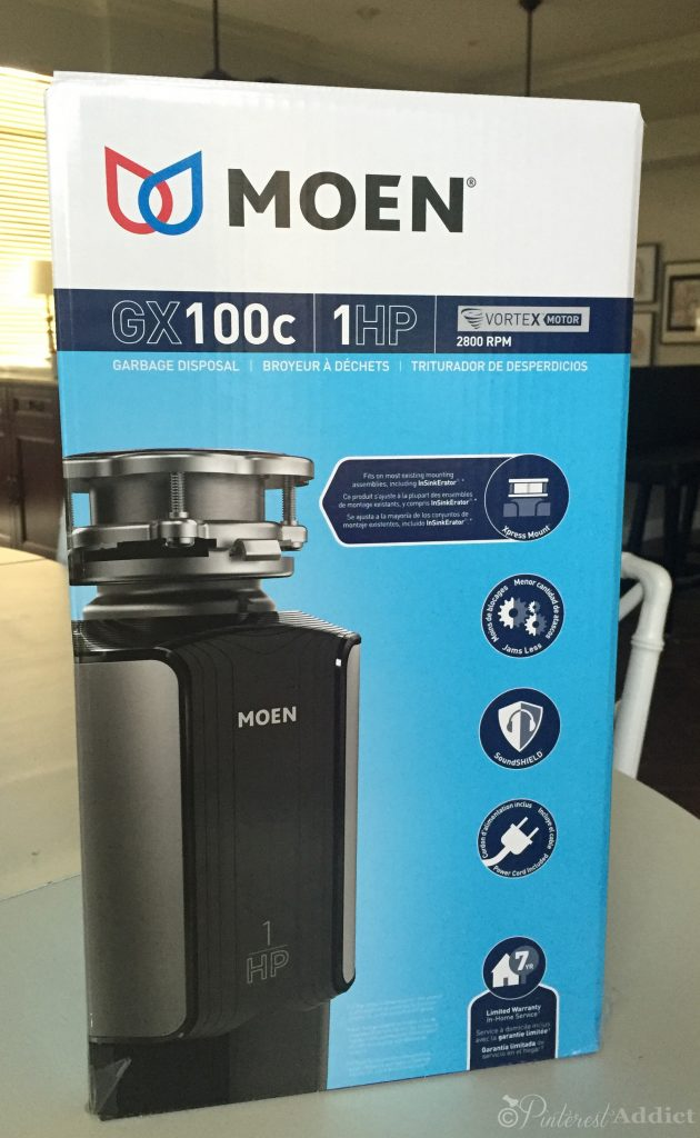 Moen garbage disposal GX100c 1 HP