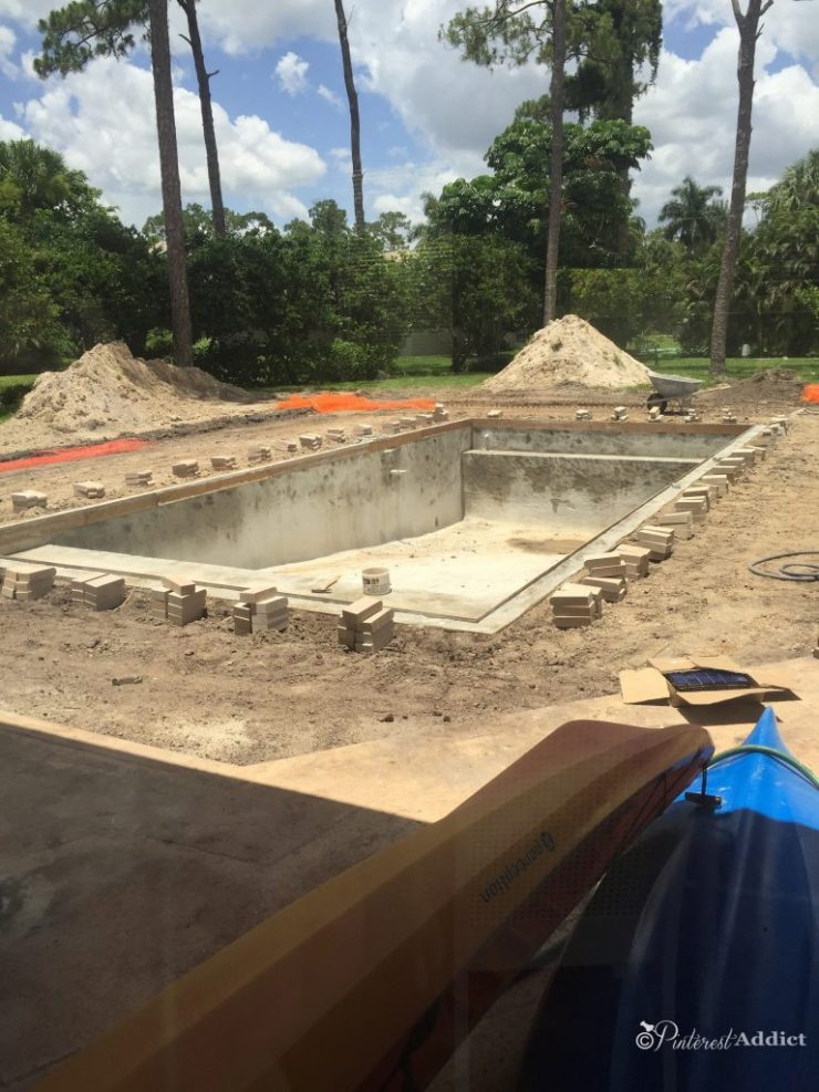What to expect when building a pool - coping installed
