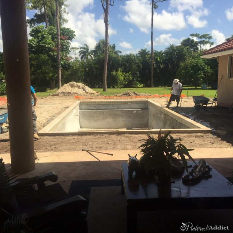 What to expect when building a pool - deck prep