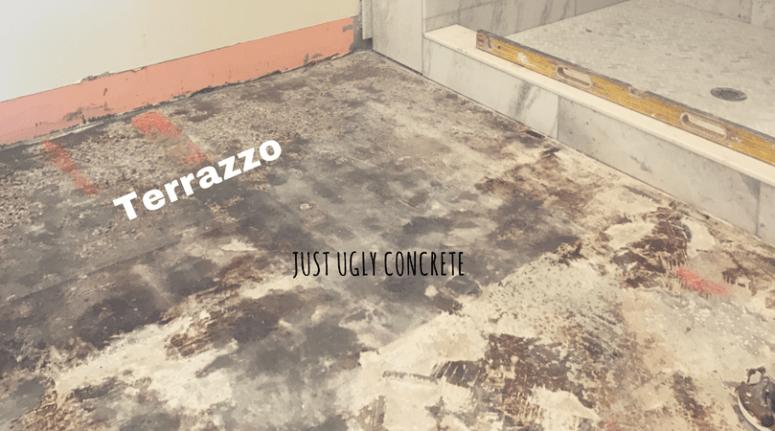 damaged terrazzo