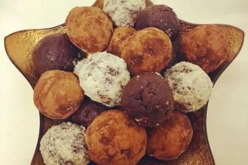 trufas natal bolas energéticas frutos secos