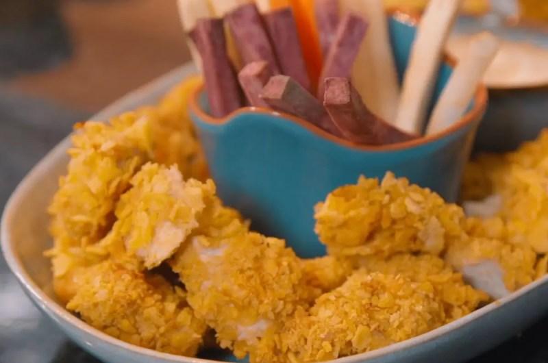 Nuggets de frango saudáveis