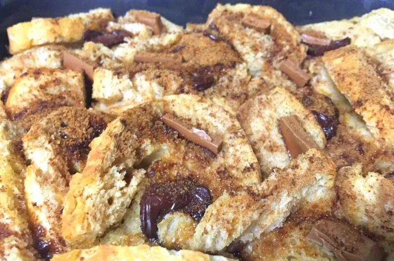 Rabanadas de forno com chocolate