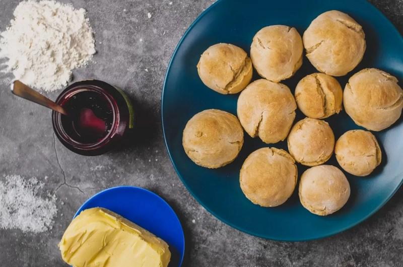 Pão fácil sem fermento de padeiro