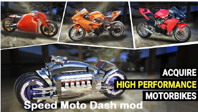 Speed Moto Dash mod apk Free download for android