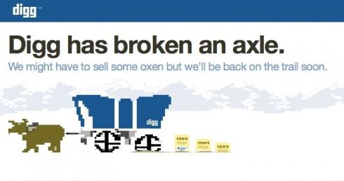 Digg error message