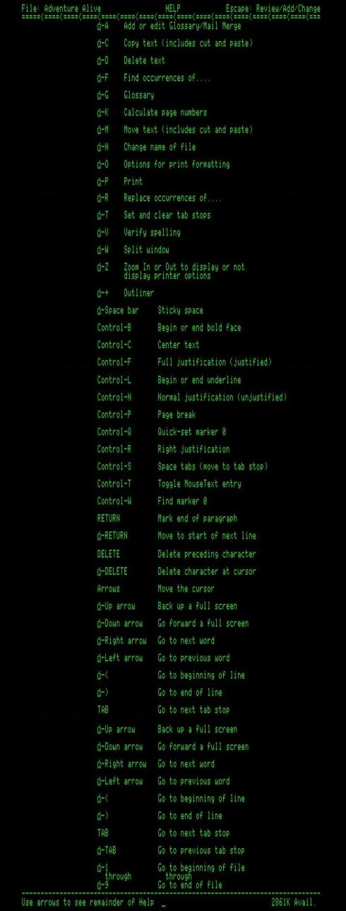 Appleworks command set