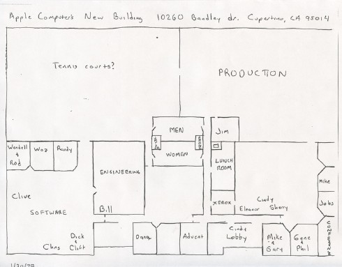Blueprint Of Appleu0027s Offices At 10260 Bandley Drive