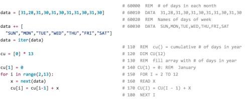 Applesoft & Python