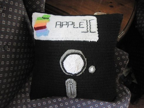 Floppy disk pillow case