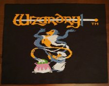 Glenda Adams' needlepoint: Wizardry
