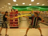 Ken & Jeri fencing at Target at KansasFest 2004