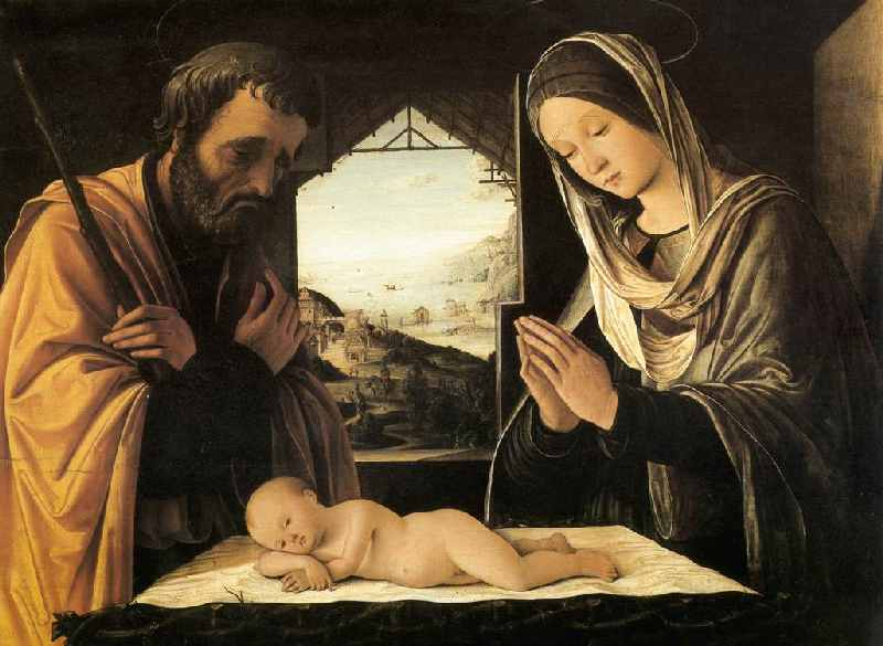 Resultado de imagen para san jose y maria en adoracion al nacimiento del niño dios