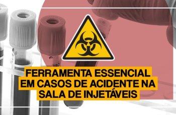 ferramenta essencial em casos de acidente na sala de injetáveis