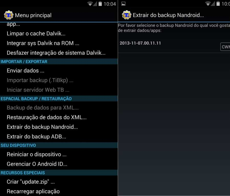 Android 4.4 para Optimus G - backup