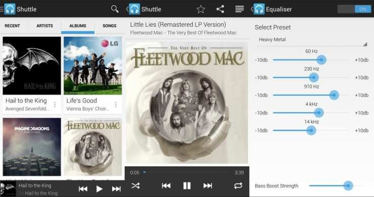 shuttle_music app de musica