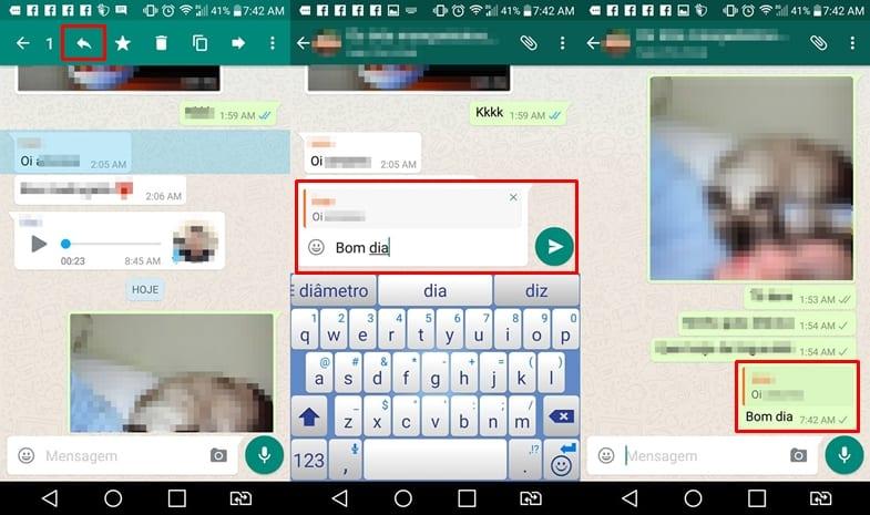 Como fazer citação no Whatsapp do Android