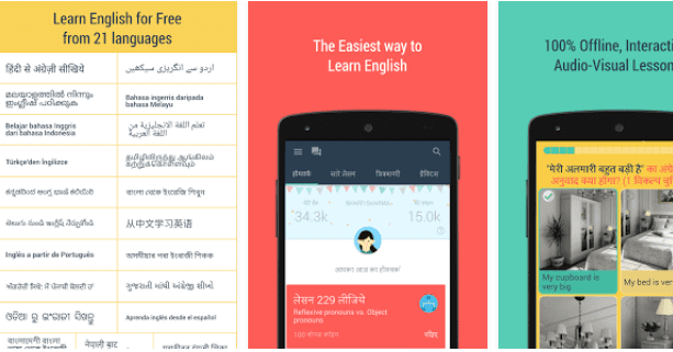 aprender ingles online no Android